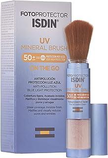 Isdin Fotoprotector UV Mineral Brush SPF 50+, Protector Solar Facial de Uso Diario on the Go, Activos Antipolución, Matificante, Acabado Invisible, 2 g