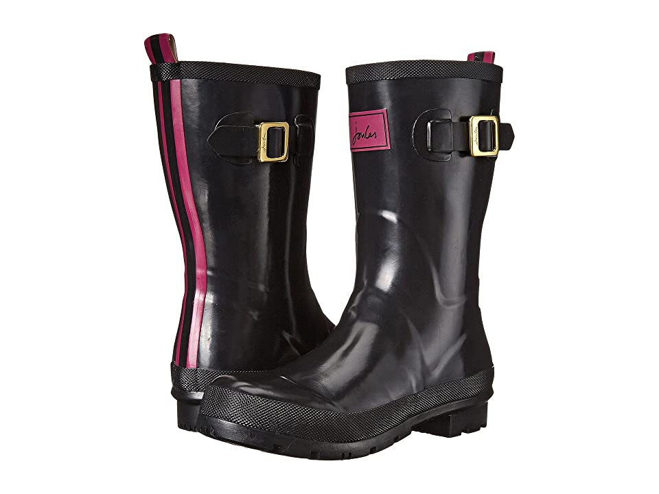 Joules Mid Kelly Welly (Black Rubber) Women