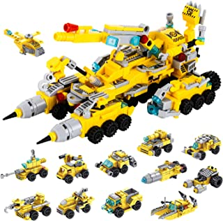 Milestar STEM Building Toys 566 Pieces Transformers Construction Toys Vehicles Truck Fantastic Gift for Boys Girls Age 6 7...