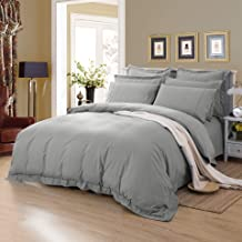 Tailored 1000TC Ultra Soft Quilt Cover Set Duvet Cover Set Doona Cover Set AU Size Bed (Queen Size, Grey)