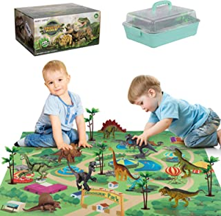 Baby Home Dinosaur Toy Playset with Activity Play Mat & Trees for Creating a Dino World Including T-Rex, Triceratops, etc,...
