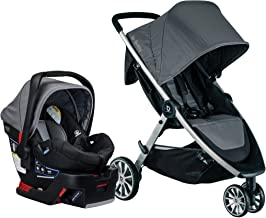 Best BRITAX B-Lively Travel System with B-Safe 35 Infant Car Seat | One Hand Fold XL Storage Ventilated Canopy, Dove (S05587900) Review