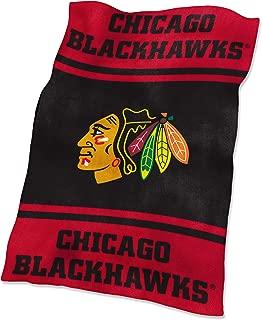 NHL Chicago Blackhawks Ultrasoft Throw with Large Logo Blanket, Red, 54