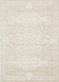 Modern Vintage Inspired Area Rugs Snow White 7' x 10' FT Himalaya Collection Rug - Rugs for Living Room - Rugs for Dining Room & Bedroom - Floor Carpet