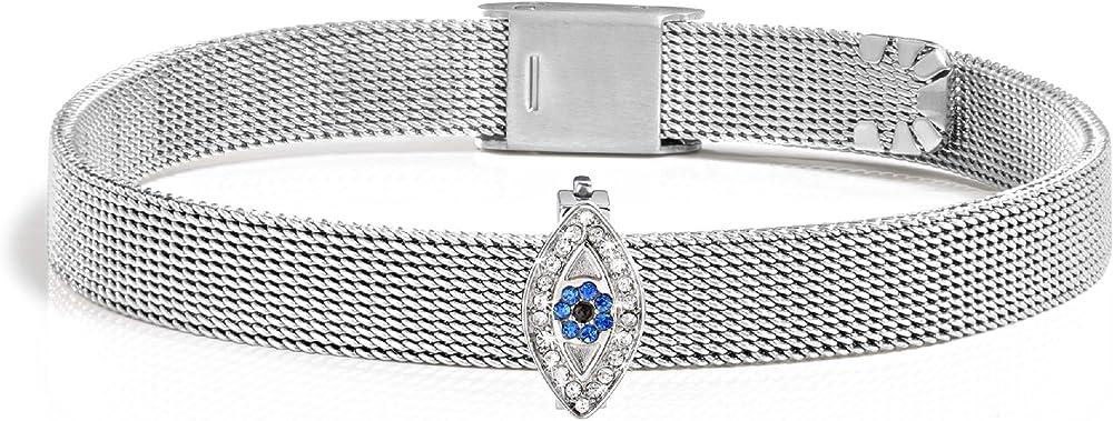 Morellato,bracciale da donna in acciaio inossidabile e cristallo SAJT32