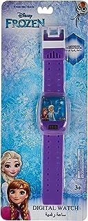 ساعة يد رقمية للبنات بمينا متاهة وسوار مزينان برسوم من فيلم ديزني فروزن - SA7112 Frozen-A