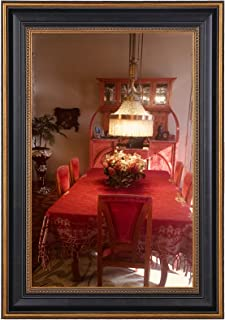Space Art Deco 11x17 Ornate Gold Design Black Frame - Photo/Picture/Poster Display - Sawtooth Hangers - Wall Mount - Landscape/Portrait - Glass