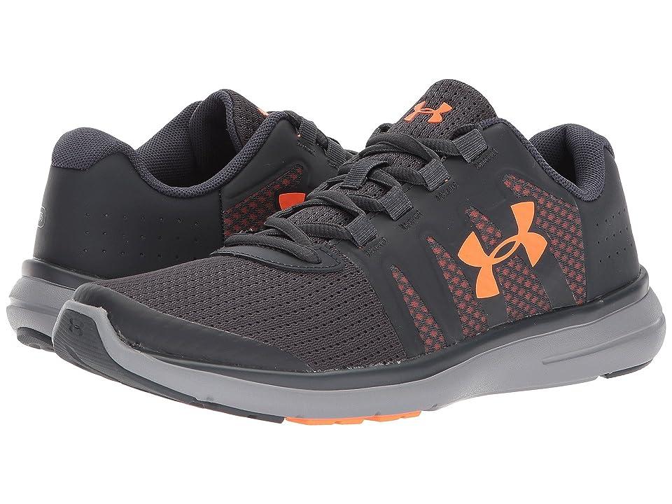 Under Armour Kids UA BGS Micro G Fuel RN 2 (Big Kid) (Stealth Gray/Blaze Orange) Boys Shoes