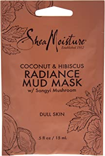 Shea Moisture Coconut & Hibiscus Radiance Mud Mask by Shea Moisture for Unisex - 0.5 oz Mask, 15 ml