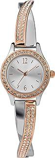 Timex Women's Swarovski Crystal 23mm Watch & Bracelet Gift Set – Rose Gold Two-Tone