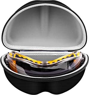 Portable Carrying Case Compatible with DEWALT Safety Goggles/Glasses DPG82-11/ DPG82-11CTR/ DPG82-21 / Ski/Snowboard Goggles of OutdoorMaster OTG & Pro/ZIONOR/OlarHike Safety Over Glasses