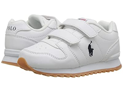 Polo Ralph Lauren Kids Oryion EZ (Toddler/Little Kid) (White Tumbled/Navy PP) Boy