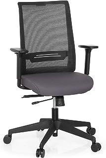 hjh OFFICE Chaises de Bureau, Gris, 65 x 54 x 108