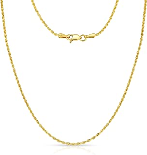 Mia Diamonds 10k Yellow Gold .90mm Round Snake Chain Necklace