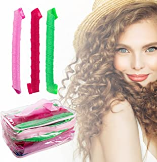 Hair Curlers Spiral Curls Styling Kit Hair Styling Rollers Tools with 1 Styling Hook 1 liner wig cap 21.6in/55cm (21 PCS)