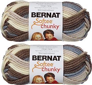 Bernat Softee Chunky Yarn 2-Pack Super Bulky #6 Each 2.8 Ounce 100% Acrylic large multicolored 161129