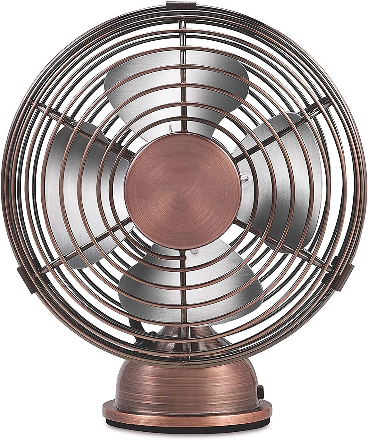 SHUILV 4-Inch Mini USB Desk Fan Copper Computer We OFFer Safety and trust at cheap prices Retro Brushed U