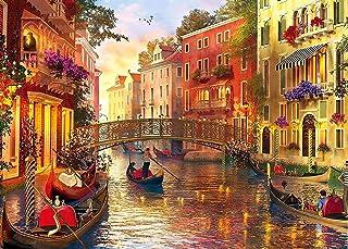 HUADADA Puzzle 1000 Pièces Adultes, Puzzle Classique Paysage Venise Puzzle Enfant Puzzle Adulte 1000 Pièce 70x50cm (Voyage...