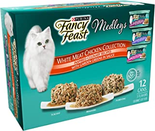 Pack of 12, 3-Ounce Cans, White Meat Chicken Recipe Wet Cat Food