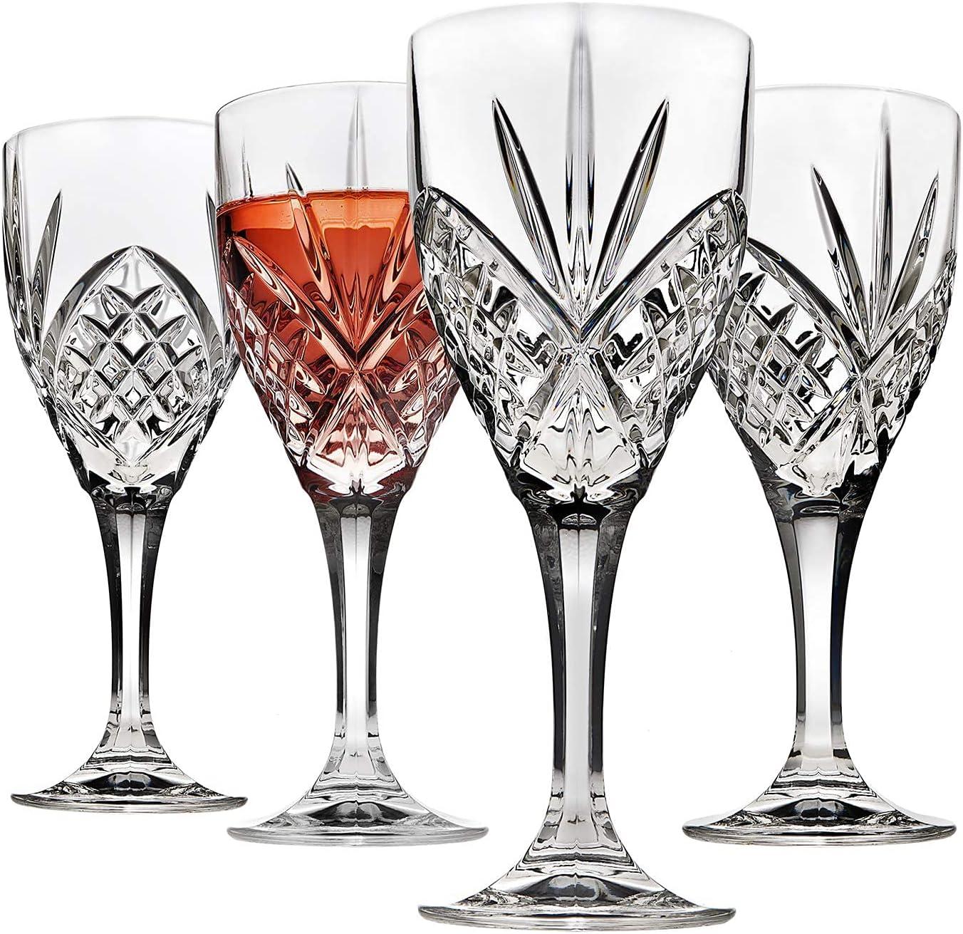 Godinger San Antonio Mall Wine Glasses Manufacturer OFFicial shop Goblets Shatterproof Acrylic and Reusable