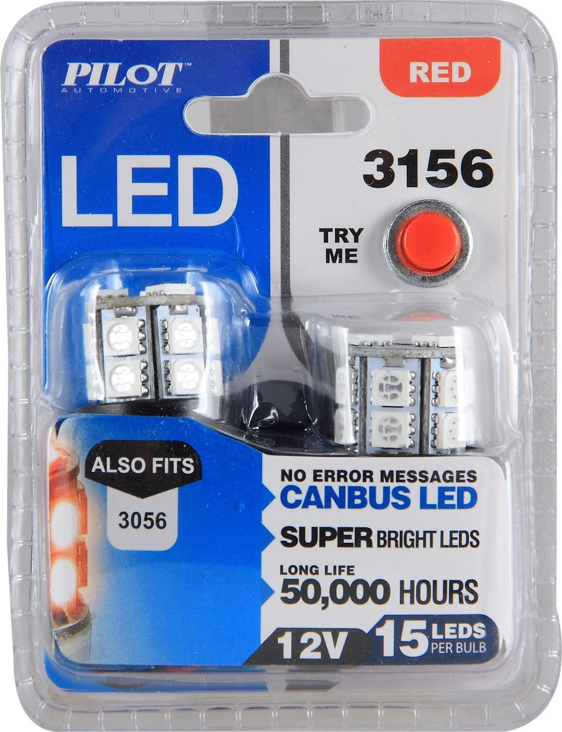 Pilot Max 41% OFF Automotive IL-3156R-15-AM Red 15-SMD Light Challenge the lowest price Tail Stop LED