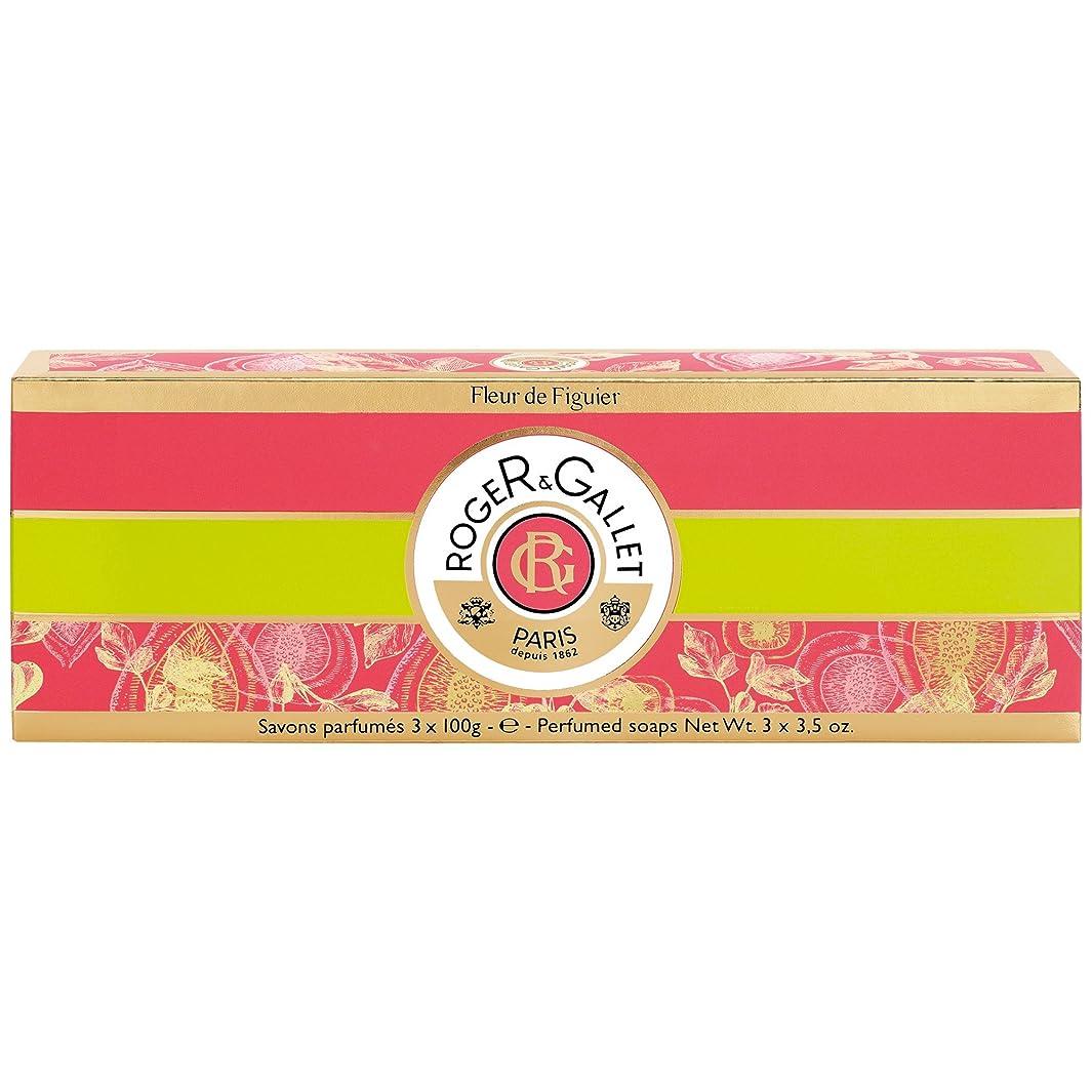 ロジャー&Galletのフルール?ド?フィギエソープコフレ3×100グラム (Roger & Gallet) (x2) - Roger & Gallet Fleur de Figuier Soap Coffret 3 x 100g (Pack of 2) [並行輸入品]