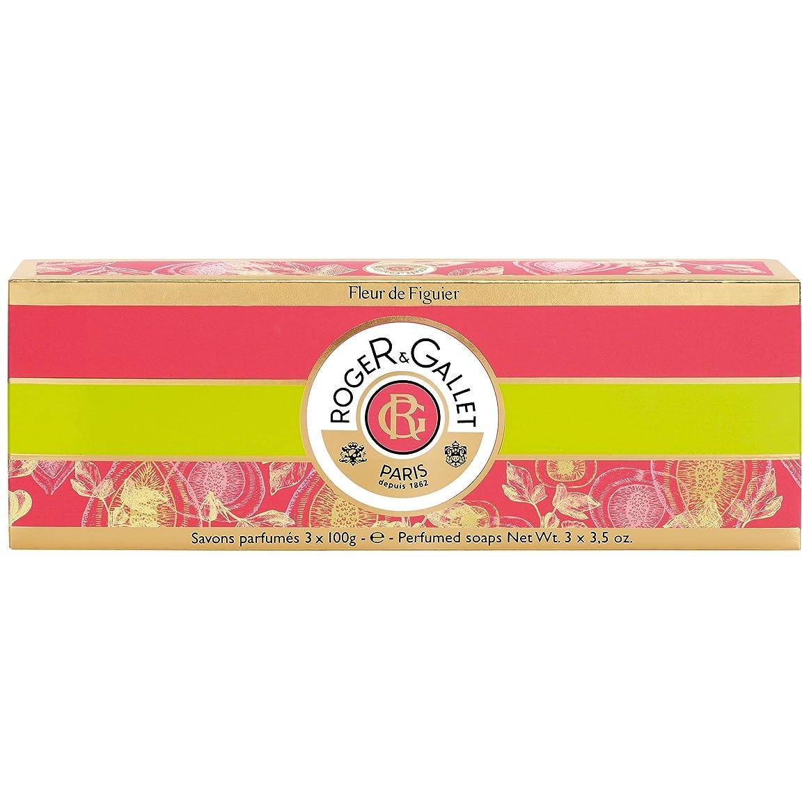 レプリカ国内のこどもの日ロジャー&Galletのフルール?ド?フィギエソープコフレ3×100グラム (Roger & Gallet) (x6) - Roger & Gallet Fleur de Figuier Soap Coffret 3 x 100g (Pack of 6) [並行輸入品]