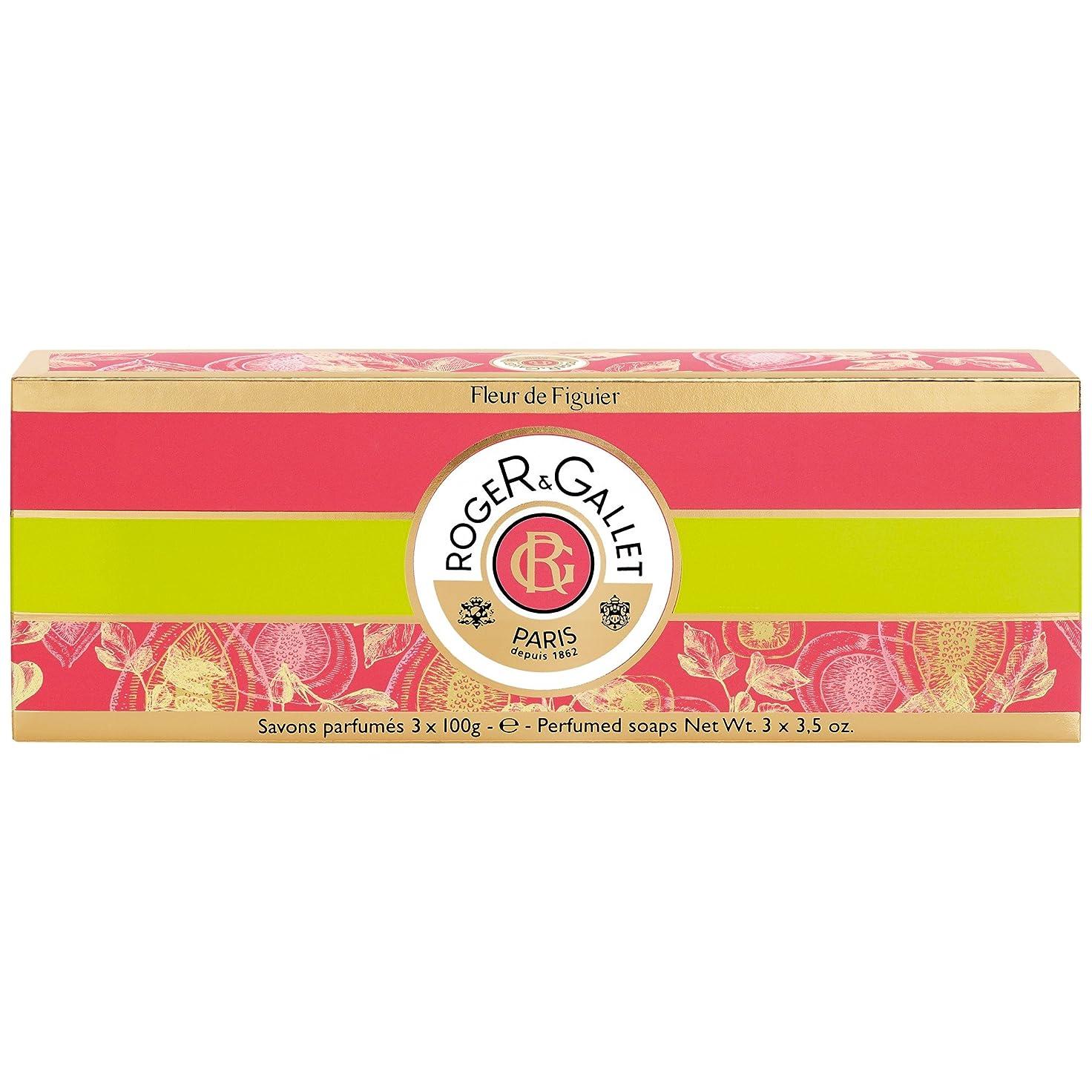 無意味プログラムステートメントロジャー&Galletのフルール?ド?フィギエソープコフレ3×100グラム (Roger & Gallet) (x2) - Roger & Gallet Fleur de Figuier Soap Coffret 3 x 100g (Pack of 2) [並行輸入品]