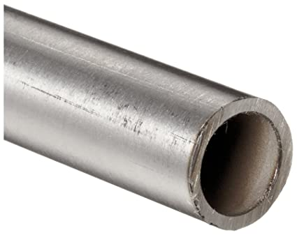 """WELD 23/"""" Length 0.035/"""" Wall Stainless 316//316L Round Tubing 1/"""" OD"""