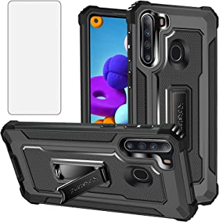 Asuwish Compatible with Huawei P30 Lite Case and Tempered Glass Screen Protector Cover Stand Ring Holder Kickstand Cell Ac...