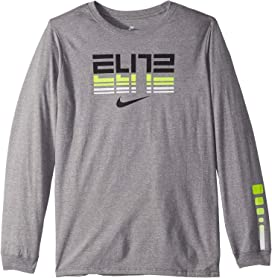 afee798007 Nike Kids Dry Long Sleeve Training T-Shirt (Little Kids/Big Kids) at ...