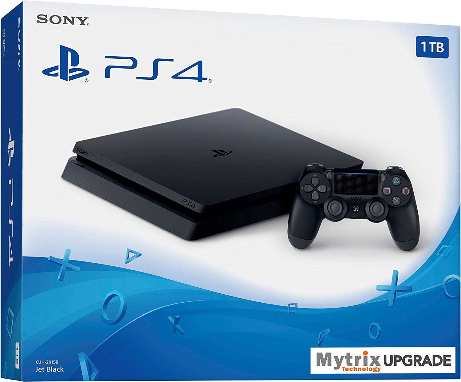 Mytrix Playstation 4 Slim 1TB SSD Console with DualShock 4 Wireless Controller Bundle, Playstation Enhanced with 1TB Solid State Drive [Video Game] [Video Game] [Video Game] [Video Game] [Video Game]
