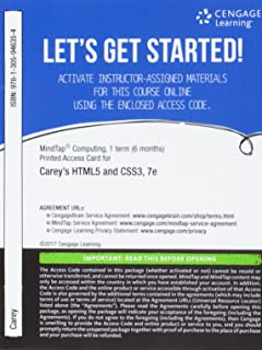 MindTap Web Design & Development, 1 term (6 months) Printed Access Card for Carey's New Perspectives HTML5 and CSS3: Comprehensive, 7th