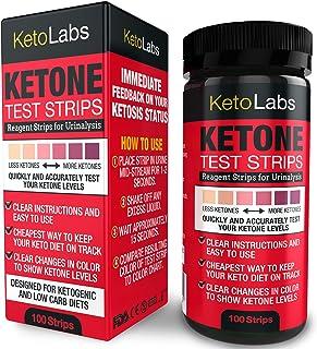 KetoLabs Ketone Test Strips   Mide Con Precisión La Cetosis En 15 Segundos   Diseñado Para