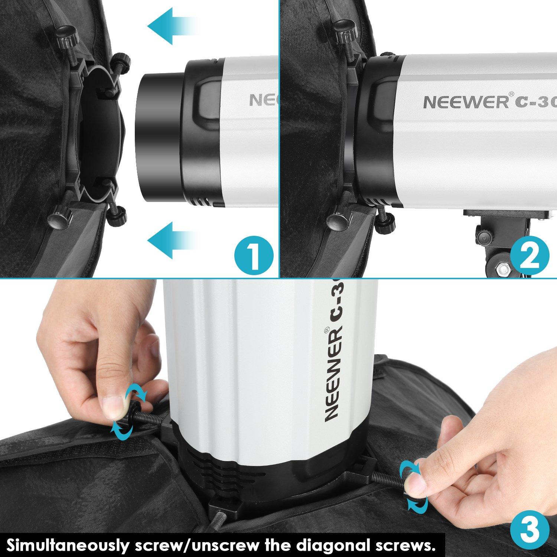 Neewer Tienda de Fotos Cuadrada Luz de Fotografía Cubo Softbox para Neewer Godox 300DI 250DI 300SDI 250SDI 180W Lámpara de Estudio(Sólo Caja de Luz, Luz Estroboscópica y Soporte no Incluidos), 50x70cm: Amazon.es: