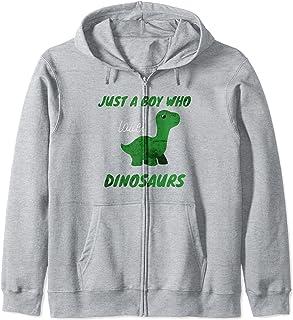 Juste un garçon qui aime les dinosaures Cute Kawaii Dino Sweat à Capuche