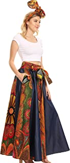 Monifa Long Maxi Skirt Colorful Ankara Wax Dutch African Skirt Gorgeous