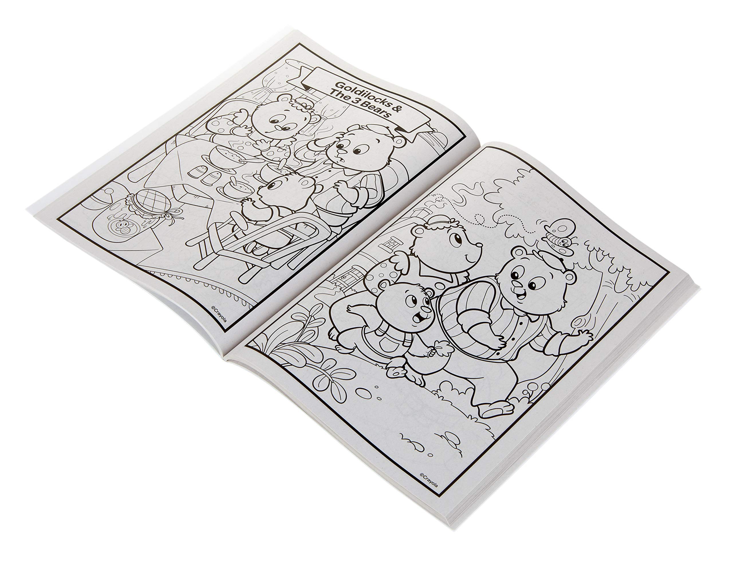 96-Page Coloring Book, Fairytales