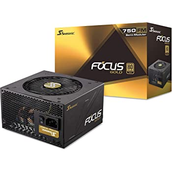 Seasonic FOCUS 750 Gold SSR-750FM 750W 80+ Gold ATX12V & EPS12V Semi-Modular  7 Year Warranty Compact 140 mm Size Power Supply