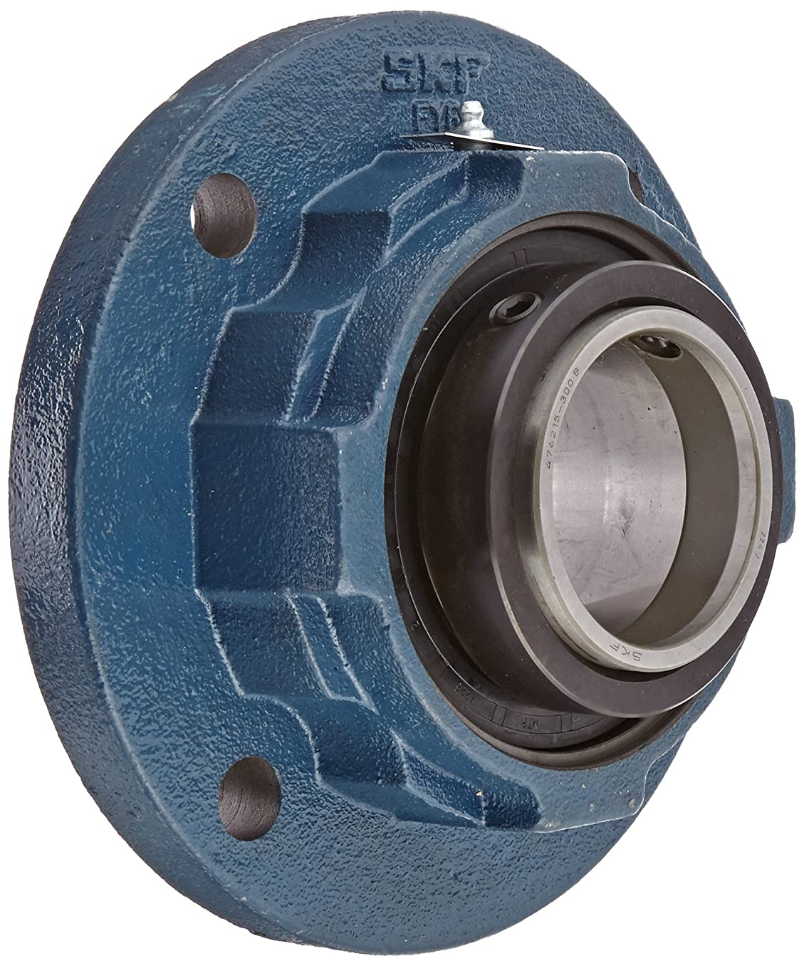 SKF FYR 2 Heavy-Duty Spherical Bearing Flange Unit, 4 Bolts, Setscrew Locking, Expansion Type, Regreasable, Contact Seal, Cast Iron, 2