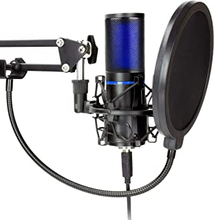 STRMD USB Microphone (Cardioid), Pop Up Green Screen, Shock Mount, Tripod Mic Stand, Scissor Mic Stand, Pop Filter & Wind Shield ideal for Zoom, Skype, Twitch & YouTube Equipment, ST-VLOG-SSK