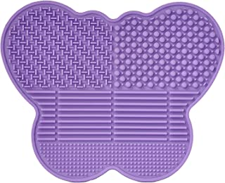 # 1 Silicone Makeup Brush Cleaning Mat -Butterfly shape Scrubber - Portable Beauty Washing Tool to Extend the Use of Your ...