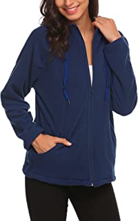 Beyove Women's Full-Zip Fleece Hooded Jacket Hoodie Coat with Pockets