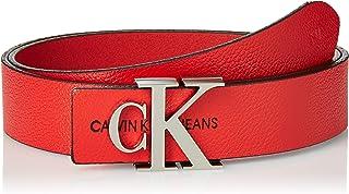 Calvin Klein Jeans Women's Gym Class Mono Belts, Red, Size: 80 cm