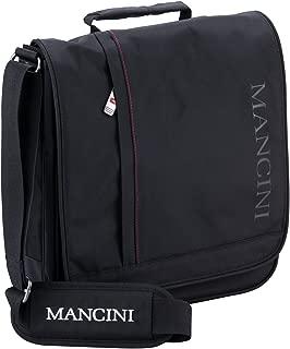 Mancini Leather Goods RFID Messenger Bag for 10.1 Inch Laptop/Tablet