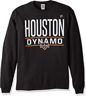 Junk Food MLS Houston Dynamo Men's Long Sleeve Tee, X-Large, Black