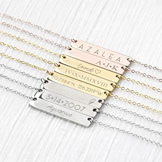 Roman Numerals Wedding Date Necklace Engraving Special Date Personalized Anniversary Gift Wedding Gift Special Date - 4N