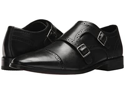 Bostonian Nantasket Monk (Black Leather) Men