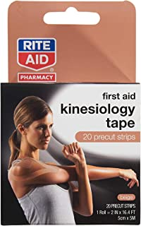 Rite Aid First Aid Kinesiology Tape Strips Beige - 20 ct