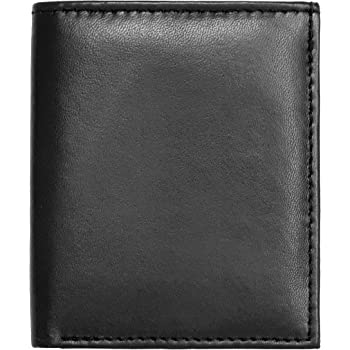 RAS Mens RFID Safe Soft Genuine Leather Credit Card and Banknote Pocket Slimline